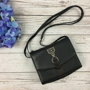 Brighton Nepal Leather Organizer Crossbody Bag